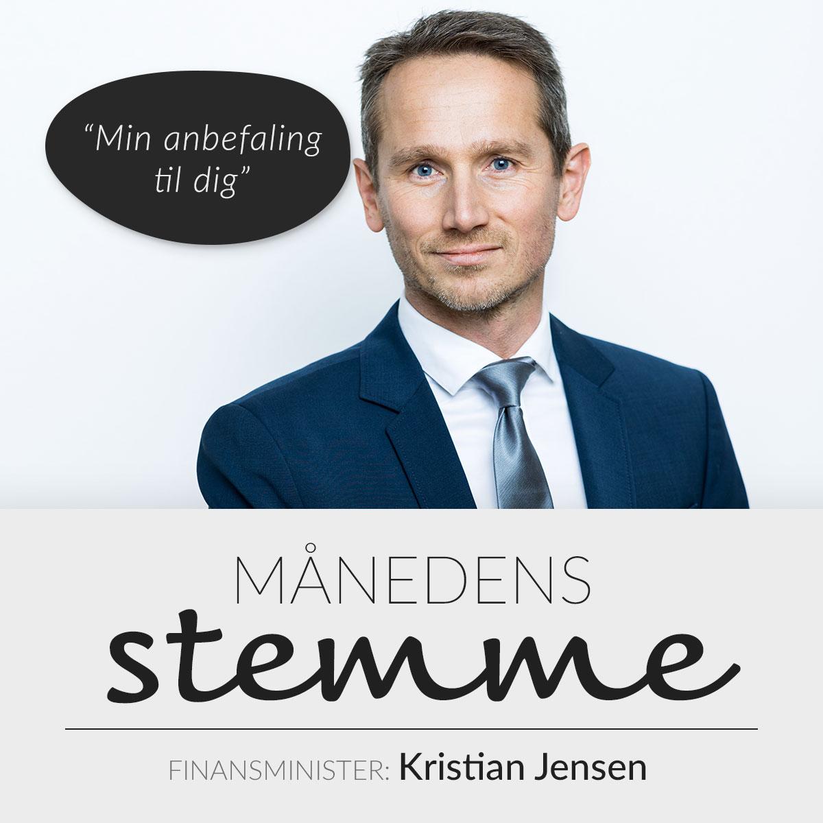 Kristian Jensen, Finansminister