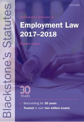 Blackstone's Statutes on Employment Law 2017-2018  9780198802761