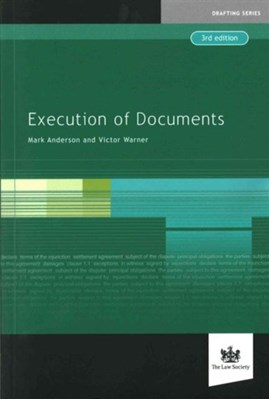 Execution of Documents Warner Victor, Mark Anderson 9781907698965