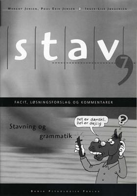 STAV 7 - Facit, løsningsforslag og kommentarer, 5. udgave Inger-Lise Jørgensen, Poul Erik Jensen 9788771584165