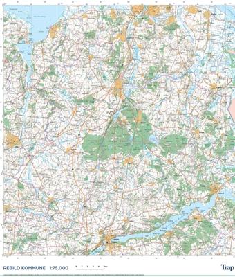 Trap Danmark: Kort over Rebild Kommune Trap Danmark 9788771811582