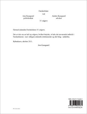 Færdselslære 15. udgave Anders Kaasgaard, Jens Kaasgaard 9788717042261