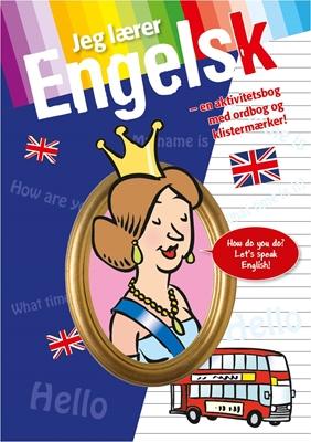 Jeg lærer engelsk - med ordbog og stickers  9788771063486