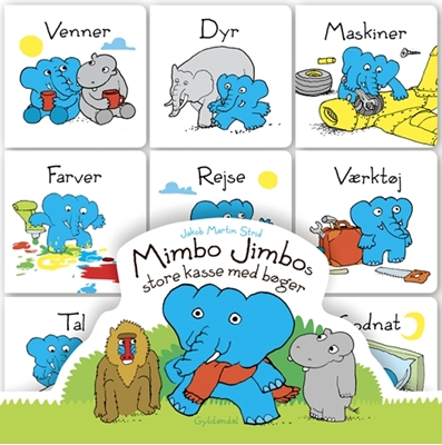 Mimbo Jimbos store kasse med bøger Jakob Martin Strid 9788702222166