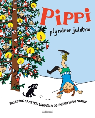 Pippi plyndrer juletræ Astrid Lindgren 9788702132816