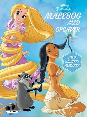 Prinsesser: malebog med opgaver (kolli 6)  9788711696385