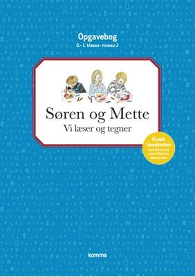 Søren og Mette opg.: Niv 2 - BLÅ. Vi læser og tegner - 0.-1. kl. Knud Hermansen, Ejvind Jensen 9788711330012