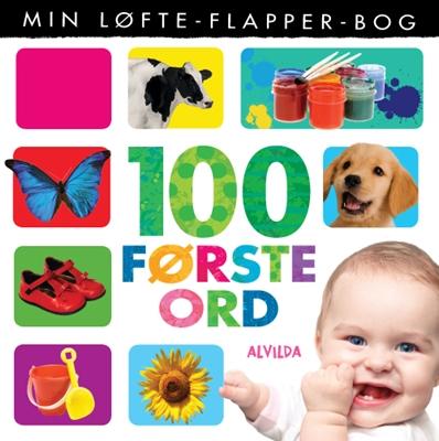 Min løfte-flapper-bog - 100 første ord  9788771054309