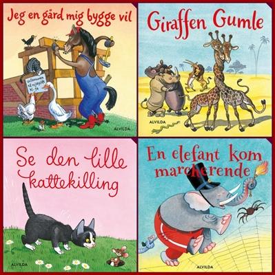 Elefantastiske børnesange. Gaveæske med 4 papbøger Bente Bech 9788771657784