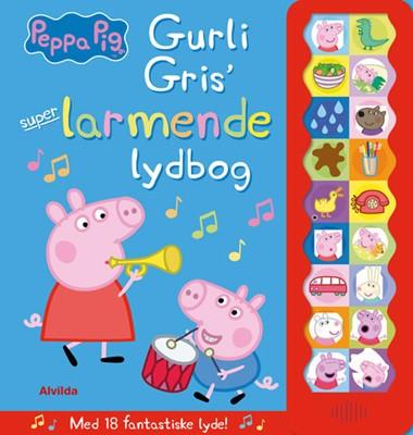 Peppa Pig - Gurli Gris' super-larmende lydbog (med 18 fantastiske lyde)  9788771658590