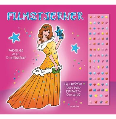 Filmstjerner (malebog m. diamantstickers) - sæt á 3 stk. Pris pr. stk. 29,95  9788771058734