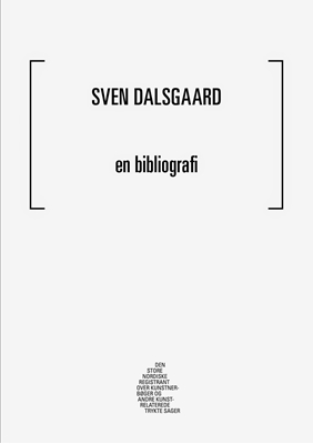 Sven Dalsgaard -en bibliografi Lasse Krog Møller, Mathias Kokholm 9788793108486