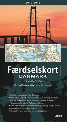 Faerdselskort Danmark 2017 2018 Af