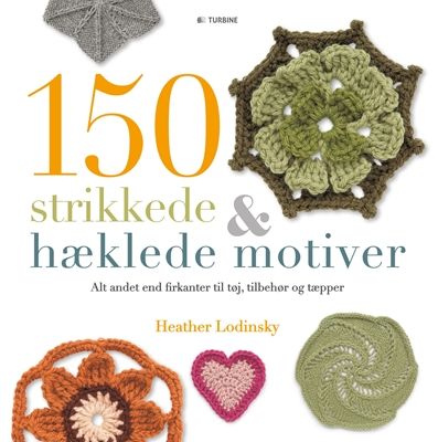 150 strikkede og hæklede motiver Heather Lodinsky 9788740610307