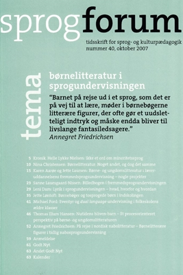 Børnelitteratur i sprogundervisningen Annegret Friedrichsen, Bente Meyer, Nanna Bjargum 9788779346369