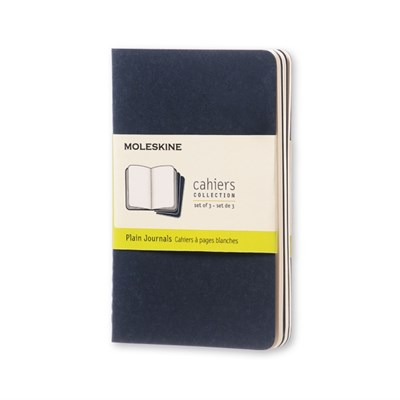Moleskine Plain Cahier - Navy Cover (3 Set)  9788862931007