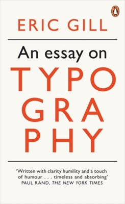 An Essay on Typography Eric Gill 9780141393568
