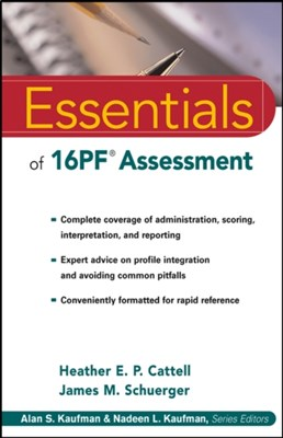 Essentials of 16PF Assessment James M. Schuerger, Heather E. P. Cattell 9780471234241