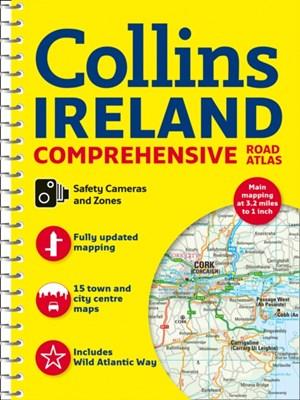 Comprehensive Road Atlas Ireland Collins Maps 9780008270339