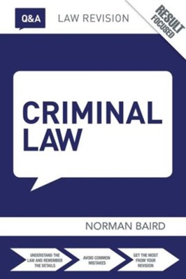 Q&A Criminal Law Norman (Consultant Baird 9781138787162