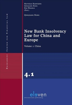 New Bank Insolvency Law for China and Europe Kong Qingjiang 9789462367432