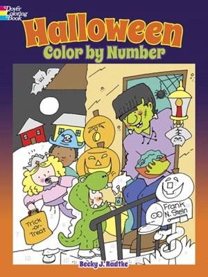 Halloween Color by Number Becky J. Radtke 9780486812168