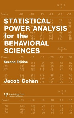 Statistical Power Analysis for the Behavioral Sciences Jacob Cohen 9780805802832