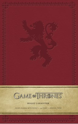 Game of Thrones: House Lannister Hardcover Ruled Journal . HBO 9781608873746