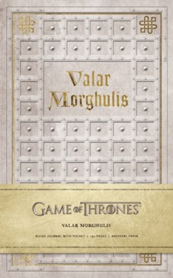 Game of Thrones: Valar Morghulis Hardcover Ruled Journal Insight Editions 9781608877430