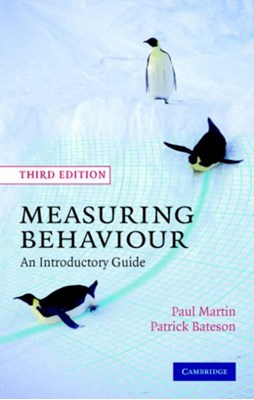Measuring Behaviour Paul Martin, Patrick Bateson 9780521535632