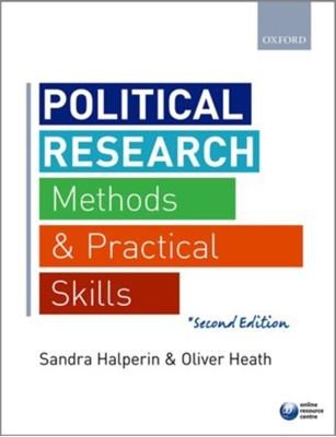 Political Research Sandra (Professor of International Relations Halperin, Oliver (Senior Lecturer in Politics Heath 9780198702740