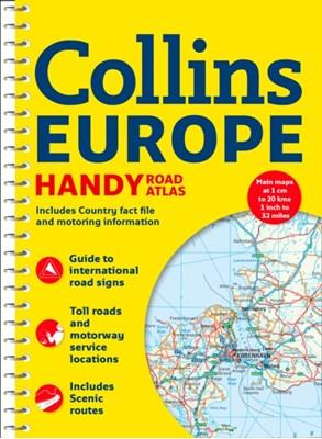 Collins Handy Road Atlas Europe Collins Maps 9780008214180