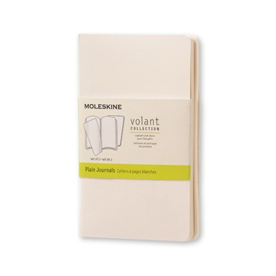 Moleskine Volant Pocket Plain White 2-set Moleskine 9788867320509