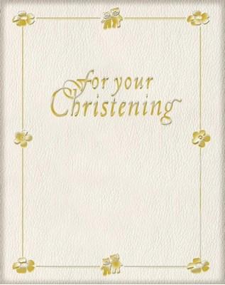For Your Christening Sarah Medina 9780745947785