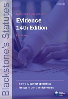 Blackstone's Statutes on Evidence  9780198768340