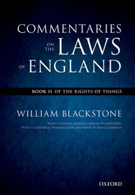 The Oxford Edition of Blackstone's: Commentaries on the Laws of England Sir William Blackstone 9780199601004
