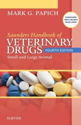 Saunders Handbook of Veterinary Drugs Mark G. Papich 9780323244855
