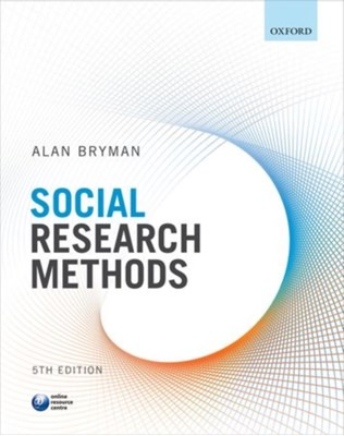 Social Research Methods Alan (Professor of Organisational and Social Research Bryman 9780199689453