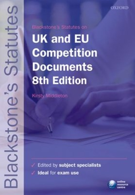 Blackstone's UK & EU Competition Documents  9780199678631