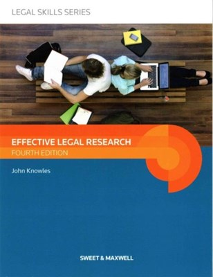 Effective Legal Research John Knowles 9780414051911
