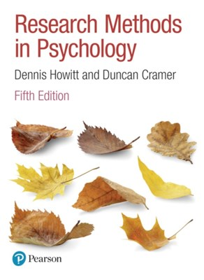 Research Methods in Psychology Duncan Cramer, Dennis Howitt 9781292134277