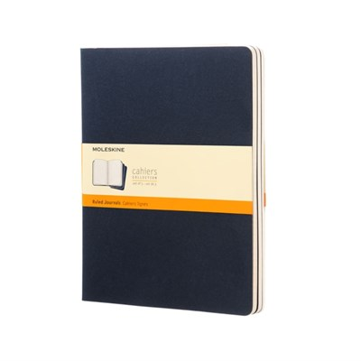 Moleskine Ruled Cahier Xl - Red Cover (3 Set)  9788862931106