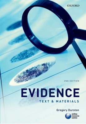 Evidence Gregory (Reader Durston 9780199583607