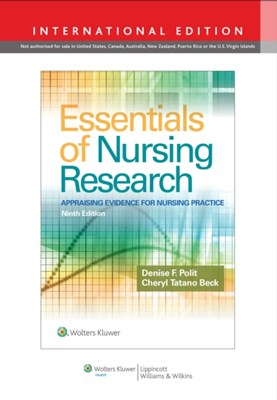 Essentials of Nursing Research Denise F. Polit, Cheryl Tatano Beck 9781496358356