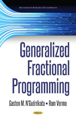Generalized Fractional Programming Gaston M N'Guerekata 9781536128697