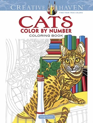 Creative Haven Cats Color by Number Coloring Book George Toufexis 9780486818535
