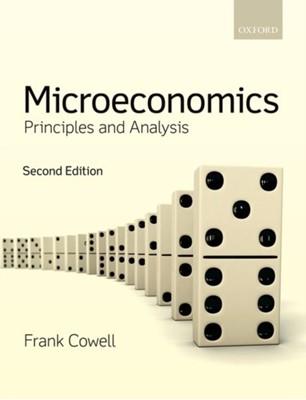 Microeconomics Frank (Professor of Economics Cowell 9780198804093