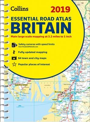 2019 Collins Essential Road Atlas Britain Collins Maps 9780008272708