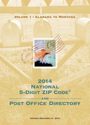 2014 National Zip Code Directory U.S. Postal Service 9781598886986