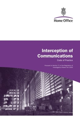 Interception of Communications Great Britain: Home Office 9780113412815